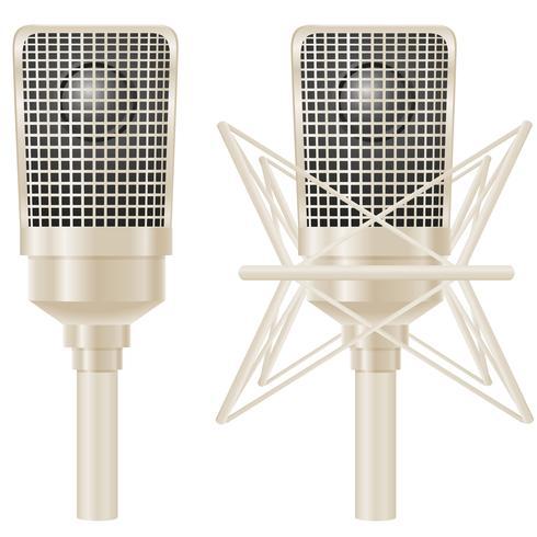 Mikrofon-Vektor-Illustration vektor