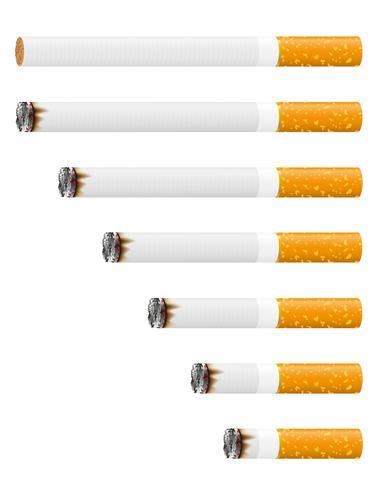 smoldering cigarett vektor illustration