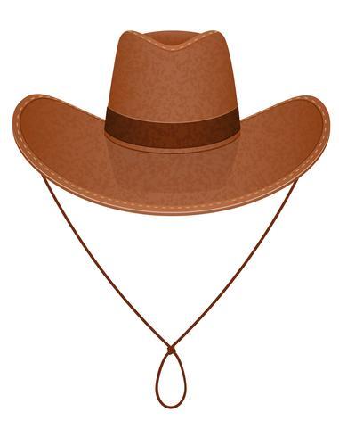 Cowboy-Hut-Vektor-Illustration vektor