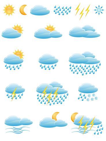 Symbole des Wetters vektor