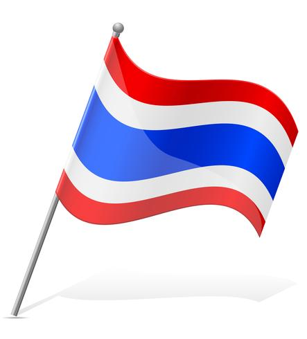 Thailand flagg vektor illustration