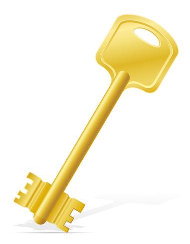 Schlüssel Türschloss Vektor-Illustration vektor