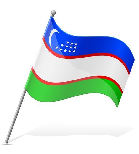 flagga i Usbekistan länder vektor illustration
