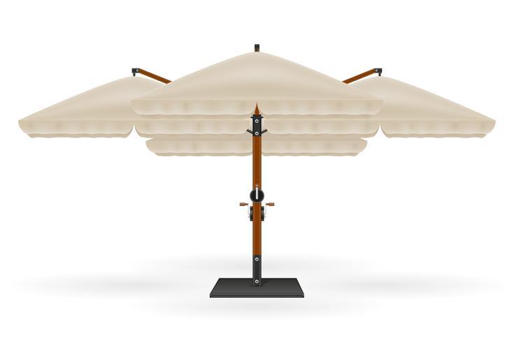 großer Sonnenschirm für Bars und Cafés auf der Terrasse oder der Strandvektorillustration vektor