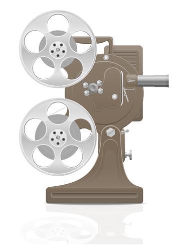 gammal retro vintage filmfilm projektor vektor illustration