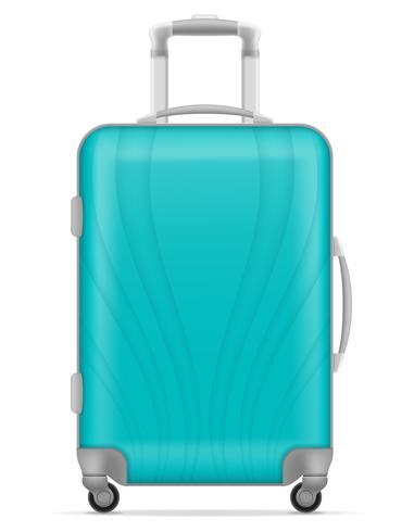 Plastikreisetasche-Vektorillustration vektor