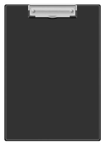 schwarze Zwischenablage-Vektor-Illustration vektor