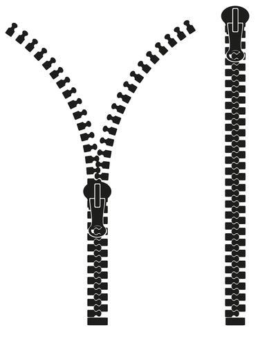 blixtlås silhuett vektor illustration