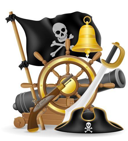 pirat begrepp ikoner vektor illustration