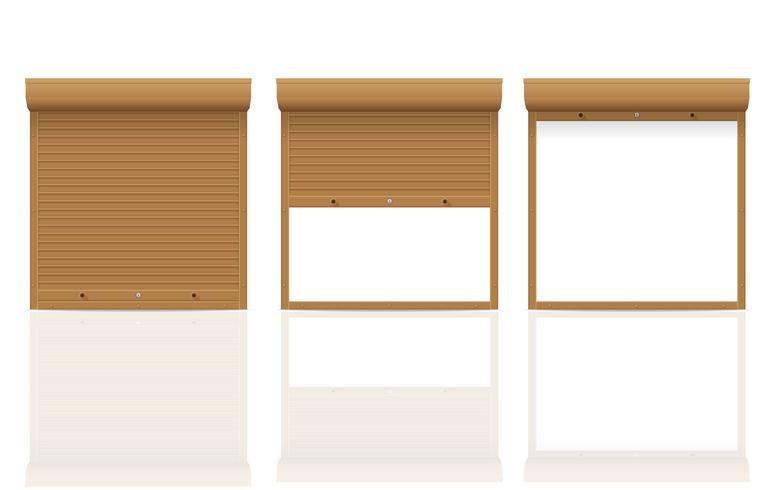 braune Rollladen-Vektorillustration vektor