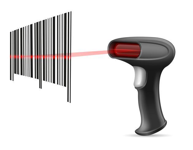 Barcode-Scanner-Lager-Vektor-Illustration vektor