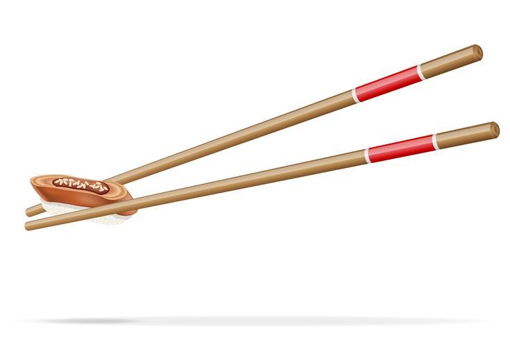 Sushi und Essstäbchen-Vektor-Illustration vektor