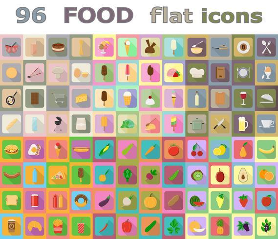 Vektorillustration der flachen Ikonen des Lebensmittels vektor