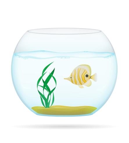 Fische in einer transparenten Aquariumvektorillustration vektor