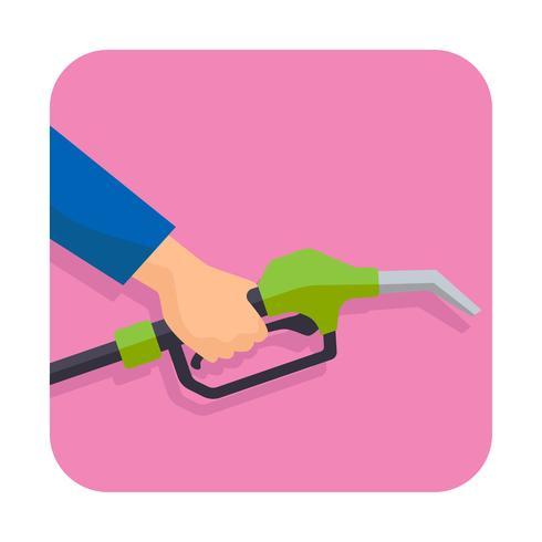 hand som håller bensinpistolpumpens bränslemunstycke vektor