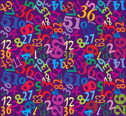 Zahlen nahtloser Mehrfarbenhintergrund vektor