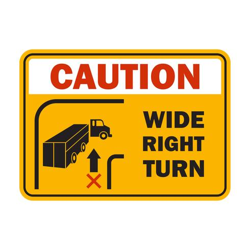 varning varning för att hantera ditt gaffeltruck fordon i din bransch, tecken symbol vektor