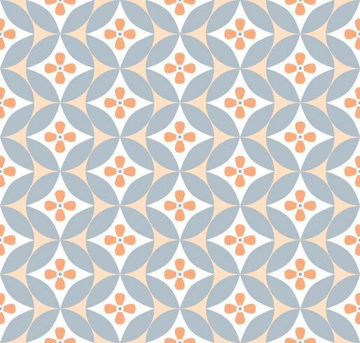 Geometrisches Blumenmuster Retro orientalisches Schnörkelverzierung. vektor