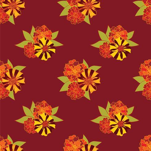Abstrakt blommigt sömlöst mönster. Sommarblomma bakgrund. vektor