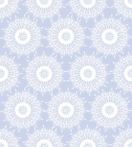 Snö sömlösa mönster, vinterlov snöflingor bakgrund. vektor