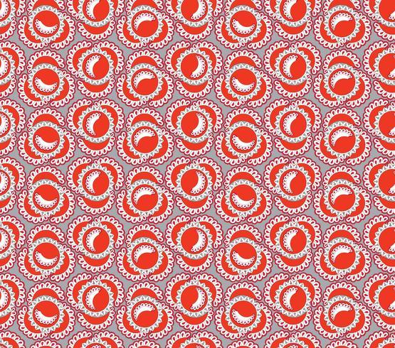 Abstrakt orientaliskt blommigt kakelmönster. Geometrisk prydnad vektor