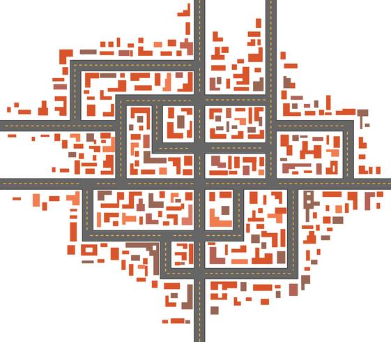 Stadskartor vektor