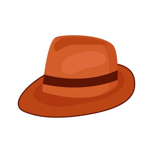 mössa hatt för mode isolerad på vit bakgrund vektor