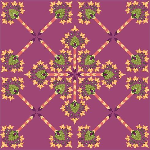Abstrakte nahtlose Blumenbeschaffenheit. Stilvolles orientalisches Blumenmuster vektor