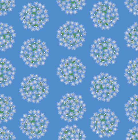 Abstraktes nahtloses mit Blumenmuster. Blumenfrühlingshintergrund. vektor