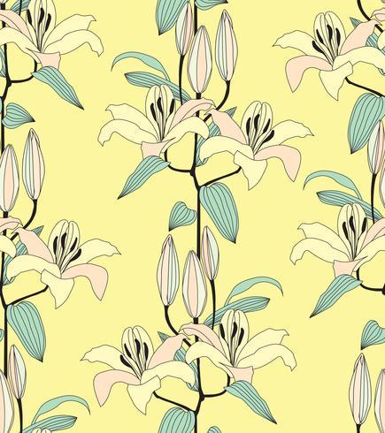 Abstrakt blommigt sömlöst mönster. Blommans dekorativa bakgrund. vektor