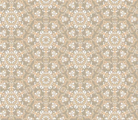 Abstraktes orientalisches nahtloses mit Blumenmuster. Blumenmosaikverzierung vektor