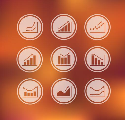 Vektor - Icons mit Diagrammen und Diagrammen