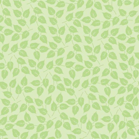 Leaves sömlöst mönster. Vacker blommig blad bakgrund. vektor