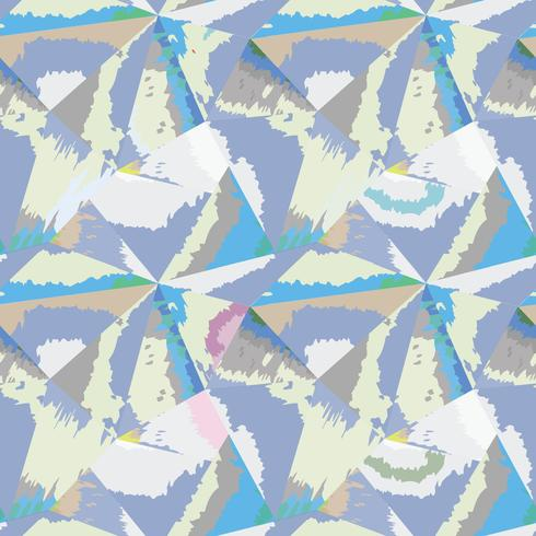 Abstraktes nahtloses Muster Geometrischer Formularaquarellhintergrund vektor