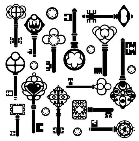Uppsättning nycklar vektor