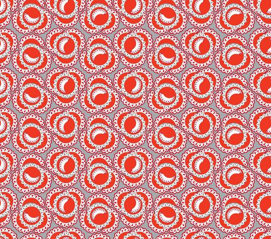 Abstraktes orientalisches Blumenfliesenmuster. Geometrische Verzierung vektor
