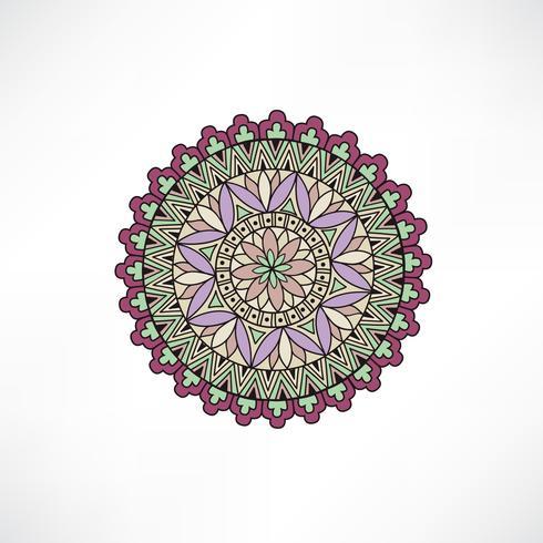 Oriental blom dekorativa element. Geometrisk prydnad. vektor
