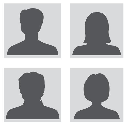 Avatar gesetzt. Silhouetten von Personenprofilen vektor