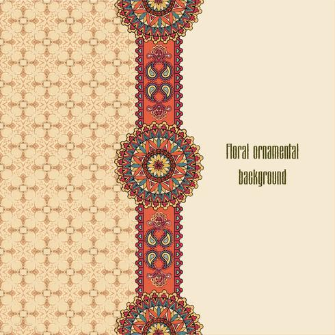 Orientaliskt blommigt sömlöst mönster. Geometrisk dekorativ bakgrund. vektor