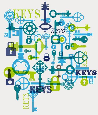 Vektor-Schlüssel vektor
