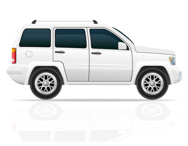 Auto-Jeep weg von der Straße SUV-Vektorillustration vektor