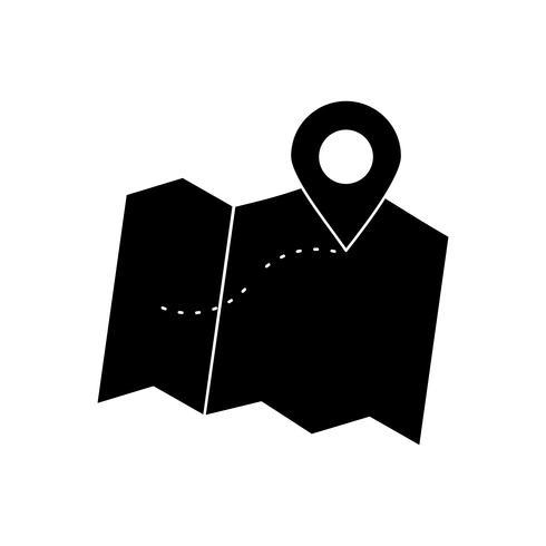 position glyph black icon vektor
