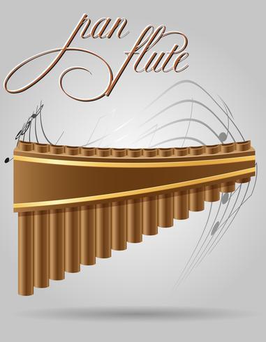 pan flöjt vind musikinstrument stock vektor illustration