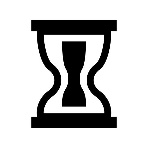 timglas glid svart ikon vektor