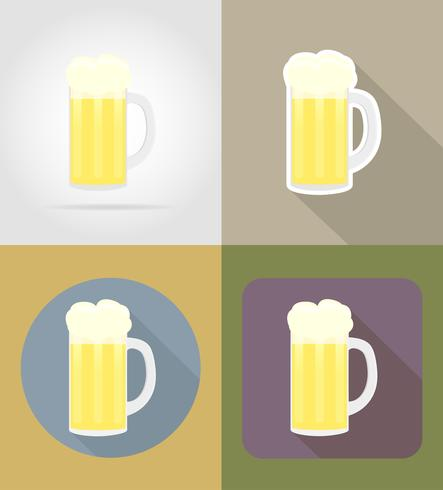 Bierglasgegenstände und -ausrüstung für die Lebensmittelvektorillustration vektor