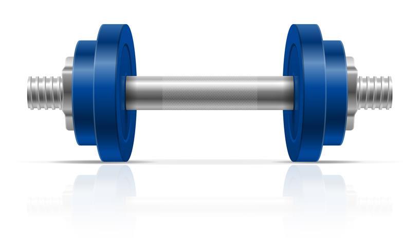 metall hantel för muskelbyggnad i gym vektor illustration