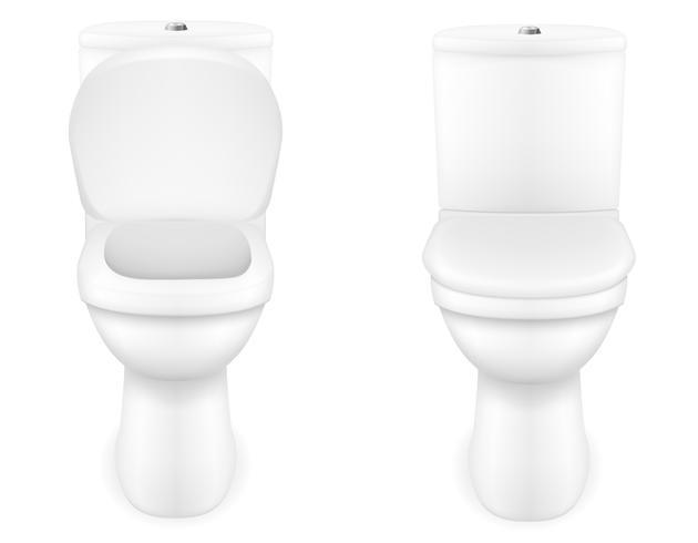 Toilettenschüssel-Vektor-Illustration vektor