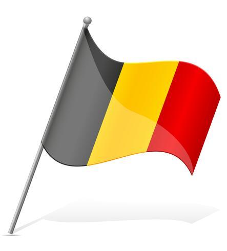 Belgiens flagga vektor illustration