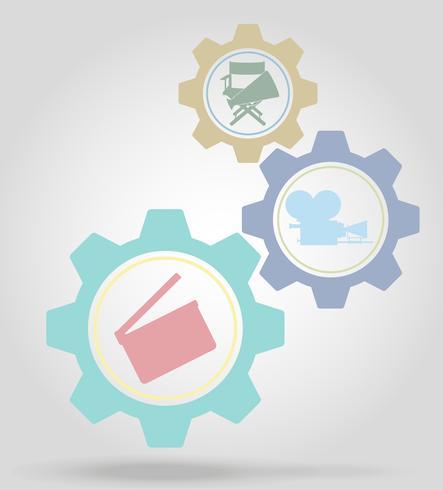 bio växel mekanism koncept vektor illustration