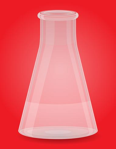 Glas Reagenzglas-Vektor-Illustration vektor